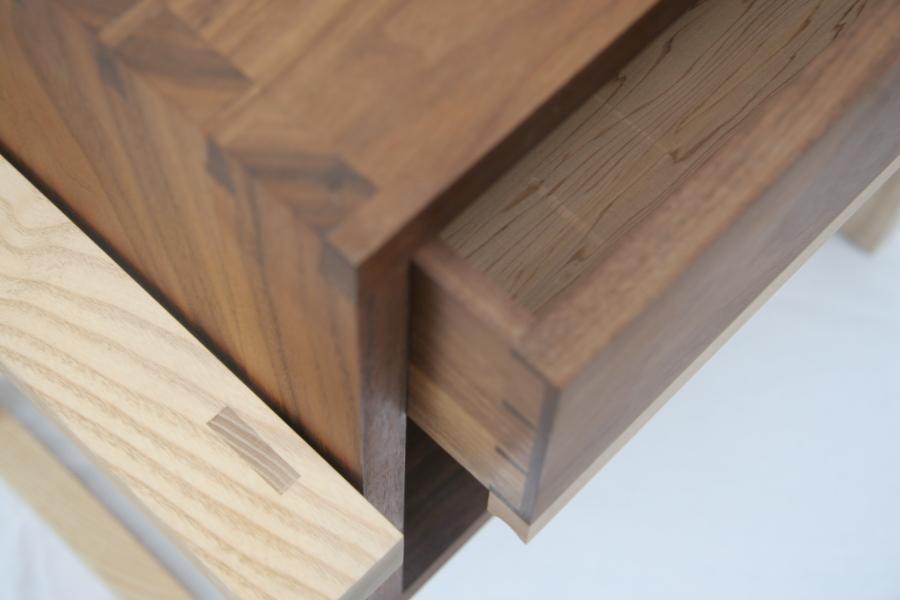 Handmade bedside cabinet, made in Hackney