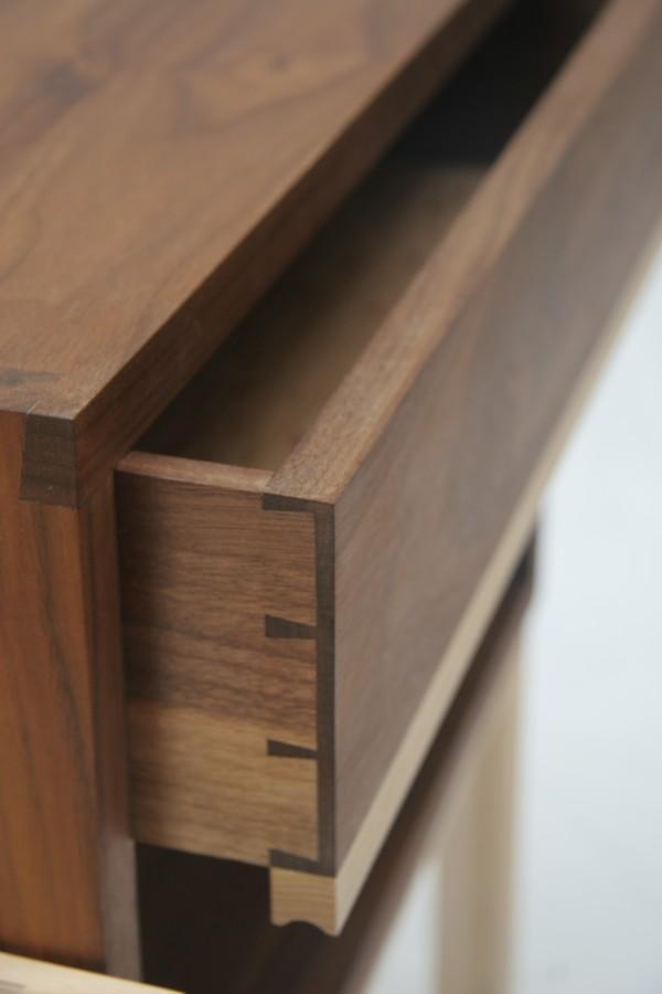 Handmade dovetailed drawer, made in Hackney