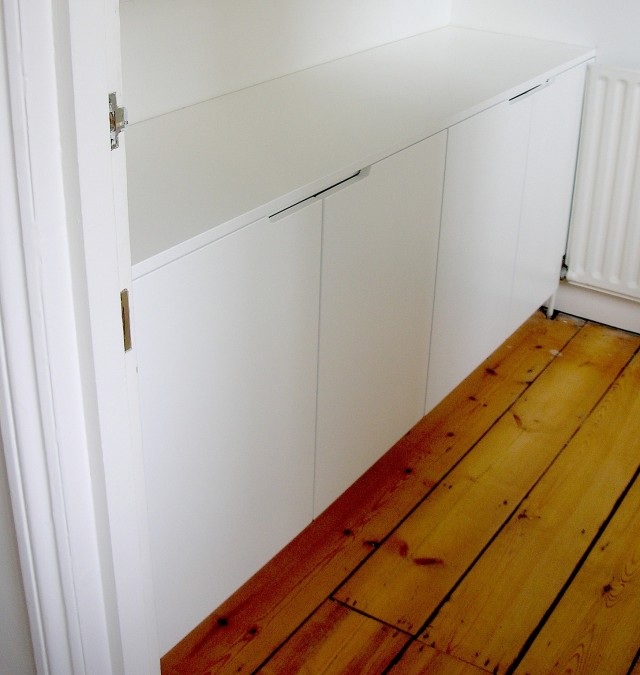 Bespoke contemporary fitted storage cabinet, London