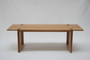 Solid oak 'Dovetail' coffee table