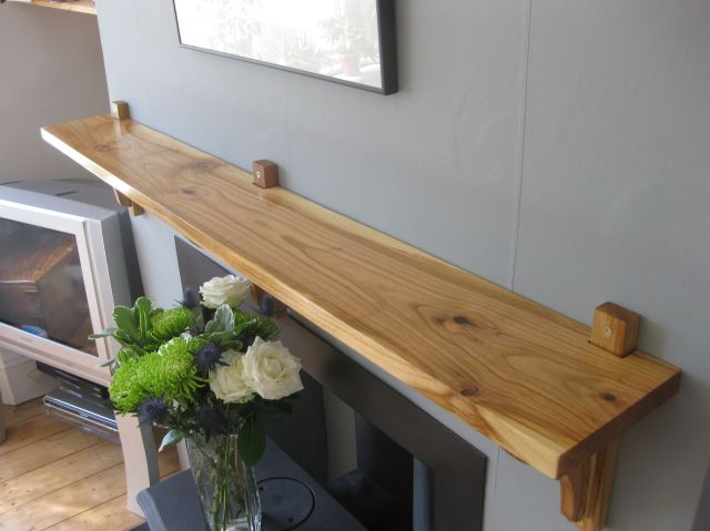 English cherry mantel shelf