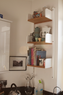 Mid century style 'Peggy' kitchen shelving