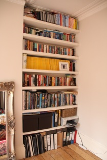 Fitted alcove floating shelves, Islington