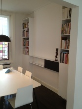 Contemporary fitted bookcases, London