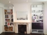 Bespoke alcove log store and audio unit, Kensington