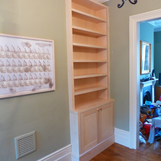 Birch plywood bookcases