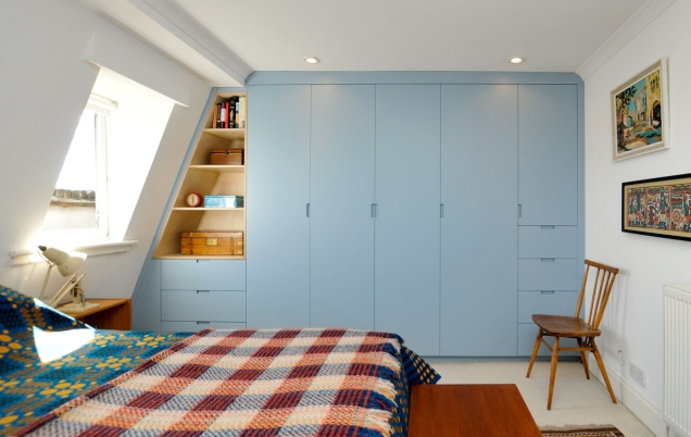 Contemporary attic wardrobes, Hackney
