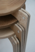 Stacking stools, made in Hackney London