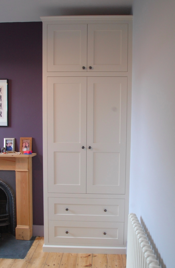 Farrow & Ball Slipper Satin shaker wardrobe, Hackney