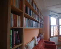 Sofa nook bookshelves, Walthamstow