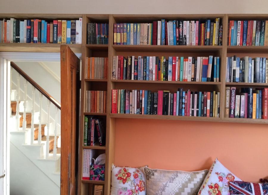 Sofa nook bookshelves, Walthamstow