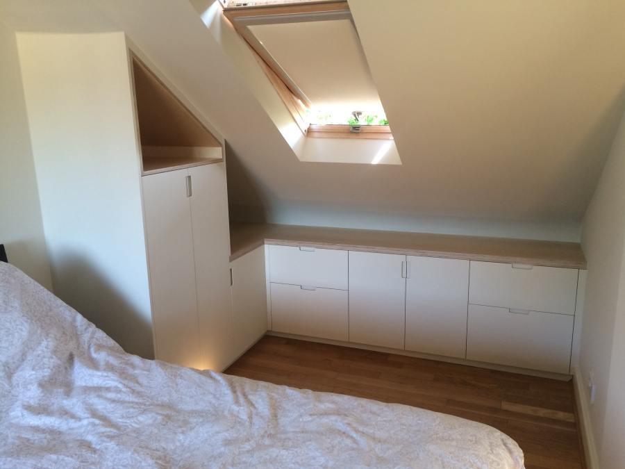 Bespoke attic eaves storage, Hackney