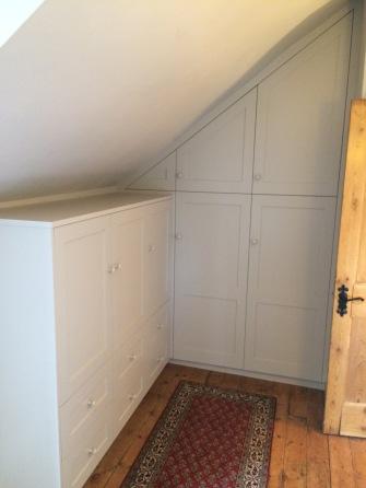 Bespoke shaker style attic wardrobe, Walthamstow