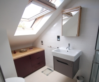 Bespoke bathroom cabinet and vanity unit, Hackney