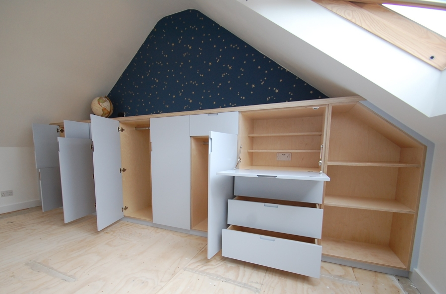 Bespoke attic storage, London