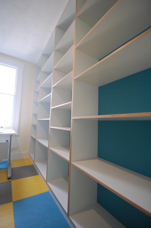 Bespoke contemporary office shelving